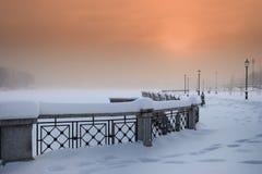 krajobrazowa miasto zima Zdjęcia Stock