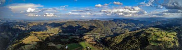 Krajobrazowa panorama od trutnia obrazy royalty free