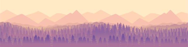 Krajobrazowa panorama wektoru ilustracja Fotografia Royalty Free