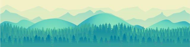 Krajobrazowa panorama wektoru ilustracja Zdjęcie Royalty Free