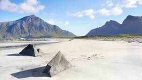 Krajobrazowa piasek plaża obrazy royalty free