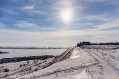 krajobrazowa pogodna zima Fotografia Royalty Free