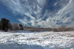 krajobrazowa rosyjska wioski zima Fotografia Stock