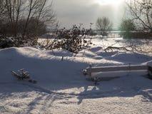 krajobrazowa rosyjska wioski zima Zdjęcia Royalty Free