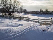 krajobrazowa rosyjska wioski zima Zdjęcie Royalty Free