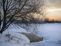 krajobrazowa rosyjska wioski zima Zdjęcie Stock