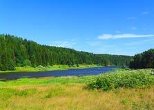 krajobrazowa rzeka Zdjęcia Royalty Free