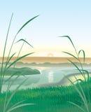 krajobrazowa rzeka ilustracja wektor