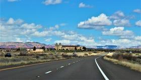 Krajobrazowa sceneria, Międzystanowi 17, Phoenix flagstenga, Arizona, Stany Zjednoczone obrazy stock