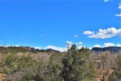 Krajobrazowa sceneria, Międzystanowi 17, Phoenix flagstenga, Arizona, Stany Zjednoczone obrazy royalty free
