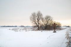 krajobrazowa sceniczna zimy Obrazy Stock