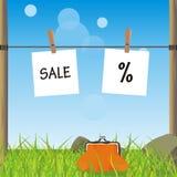krajobrazowa sprzedaży lato pastylka Fotografia Stock