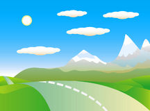 krajobrazowa tło góra Obrazy Stock