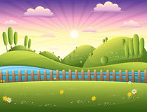 Krajobrazowa wektorowa ilustracja Fotografia Royalty Free