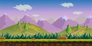 Krajobrazowa wektorowa ilustracja Obrazy Royalty Free