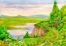 krajobrazowa wiosna Zdjęcia Royalty Free