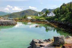 Krajobrazowa zachodnie wybrzeże wyspa Senja Norwegia Obrazy Royalty Free