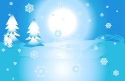 krajobrazowa zima royalty ilustracja