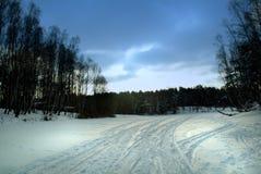 krajobrazowa zimy śniegu Fotografia Royalty Free