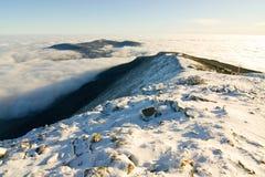 Krajobrazowa zimy wzgórza scena Obrazy Royalty Free