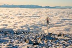Krajobrazowa zimy wzgórza scena Fotografia Royalty Free