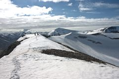 krajobrazowe arctic osoby Svalbard Obrazy Royalty Free