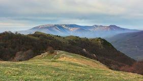 Krajobrazowe góry w ranku obraz stock