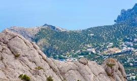 krajobrazowe linii brzegowych skały Obraz Royalty Free