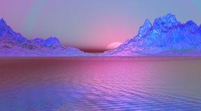 krajobrazowe purpury Fotografia Stock