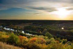 krajobrazowego zmierzch Zdjęcie Stock