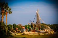 Krajobrazowej Charleston Południowa Karolina bagna shem zatoczki piękny molo Obraz Stock