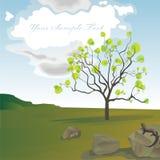 krajobrazowej jaszczurki osamotniony rockowy drzewo Zdjęcie Royalty Free