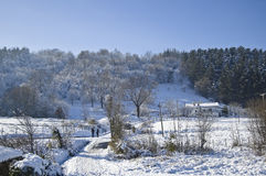 krajobrazowy śnieżny Zdjęcie Stock
