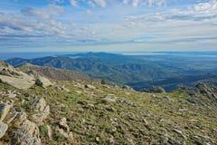 Krajobrazowy Albera halny Hiszpania Pyrenees Catalonia zdjęcia royalty free