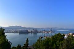 Krajobrazowy Ancona port Marche Włochy obrazy royalty free