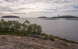 Krajobrazowy archipelag Kuzova Zdjęcie Stock