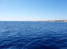 krajobrazowy błękit morze Zdjęcia Royalty Free