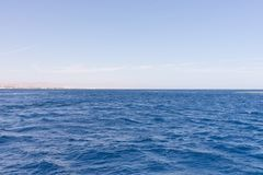 krajobrazowy błękit morze Obrazy Royalty Free
