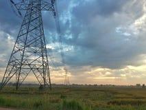 Krajobrazowy basztowy elektryczny Obrazy Stock