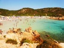 Krajobrazowy Cala Del Principe Sardinia Fotografia Stock