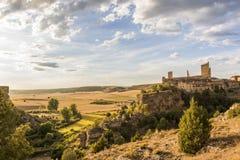 Krajobrazowy Calatanazor, Soria, Hiszpania Zdjęcia Stock