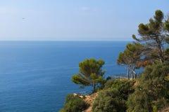 Krajobrazowy Costa Brava Zdjęcia Stock