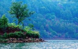 Krajobrazowy Denny jezioro Zdjęcia Royalty Free