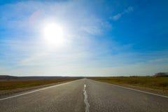 krajobrazowy drogowy wiejski lato Zdjęcie Stock