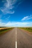 krajobrazowy drogowy wiejski lato Obraz Stock