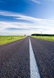 krajobrazowy drogowy wiejski lato Fotografia Stock
