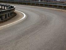 krajobrazowy drogowy zwrot Obraz Royalty Free