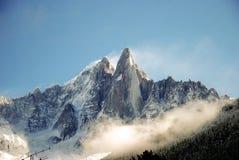 Krajobrazowy Dru w Chamonix fotografia stock