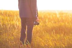 Krajobrazowy fotograf Fotografia Royalty Free
