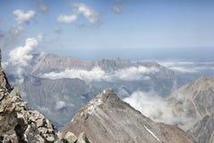 krajobrazowy halny dziki Widok od wzrosta Obrazy Stock
